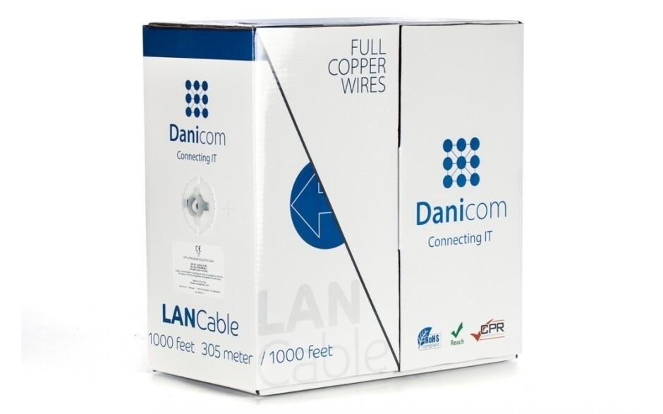 DANICOM CAT7 op rol - 100% koper
