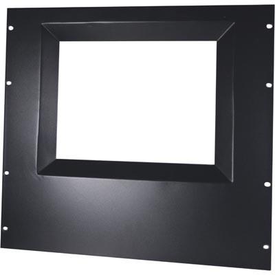 Afbeelding van 15 inch Zwart afdek paneel om monitor op 19 patchkast te monteren. Afmetingen (BxDxH): 19 x 10mm x10U
