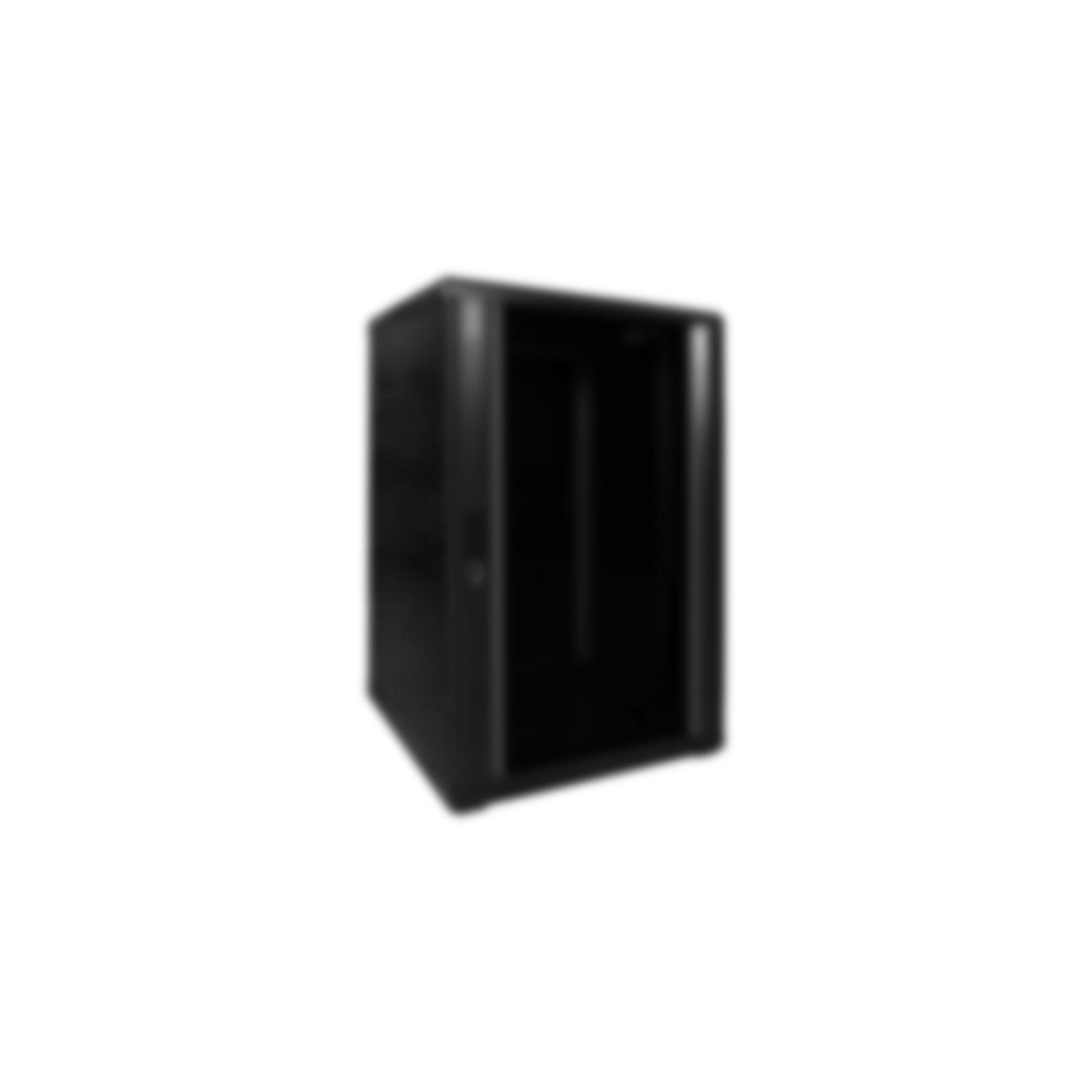 Afbeelding van 17 inch zwart afdek paneel om monitor op 19 patchkast te monteren. Afmetingen (BxDxH): 19 x 10mm x10U