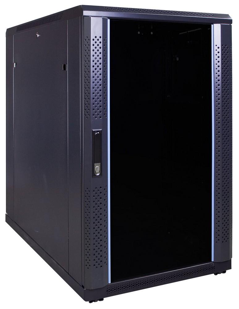 Afbeelding van 18U Patchkast met glazen deur 600x1000x1000mm (BxDxH)