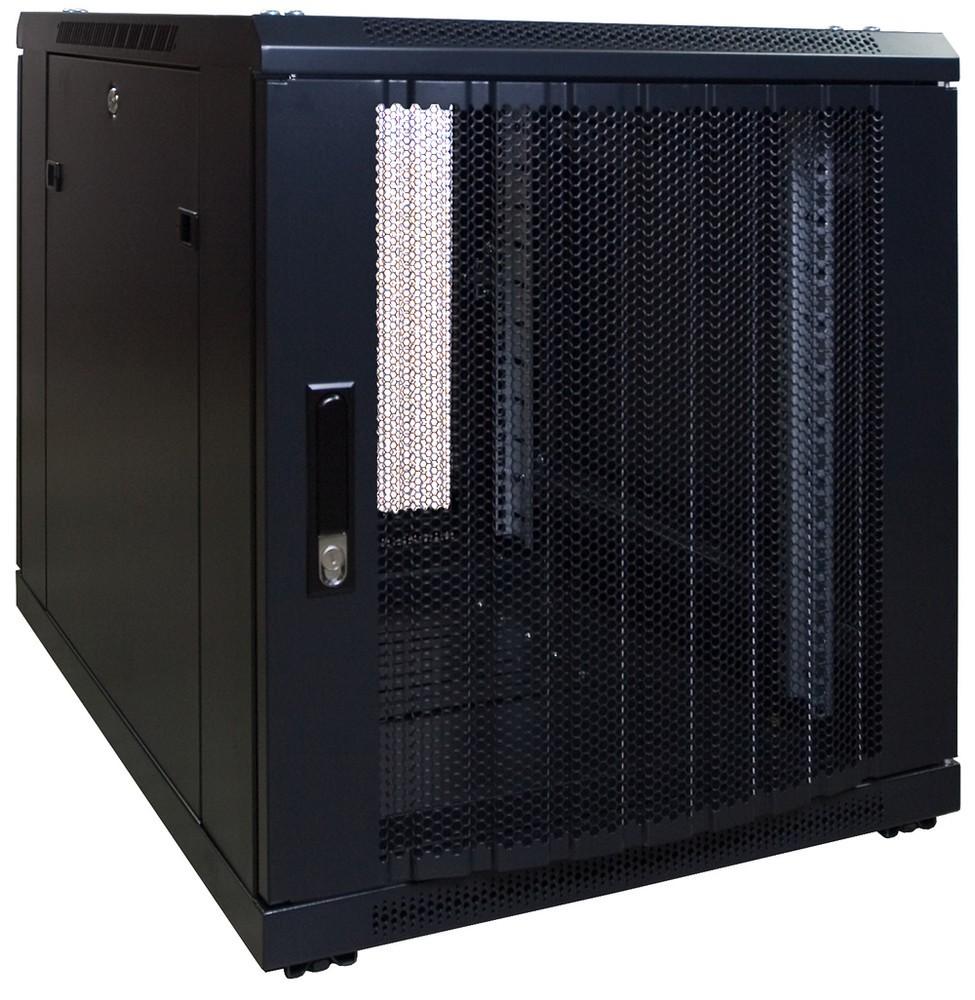 Afbeelding van 12U mini Patchkast met geperforeerde deur 600x800x634mm (BxDxH)