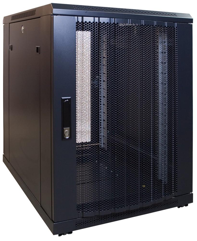 Afbeelding van 15U mini Patchkast met geperforeerde deur 600x800x770mm (BxDxH)
