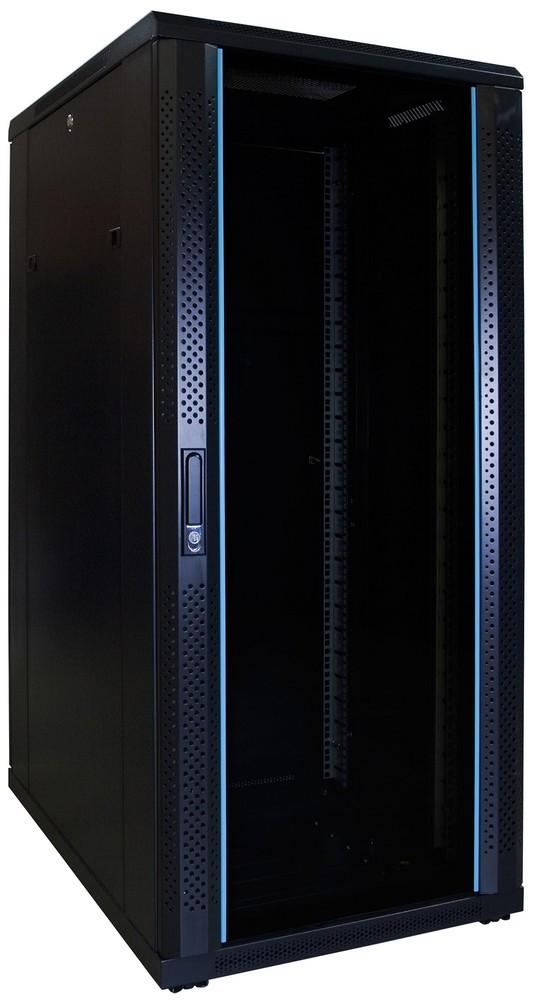 Afbeelding van 27U Patchkast ongemonteerd met glazen deur 600x800x1400mm (BxDxH)