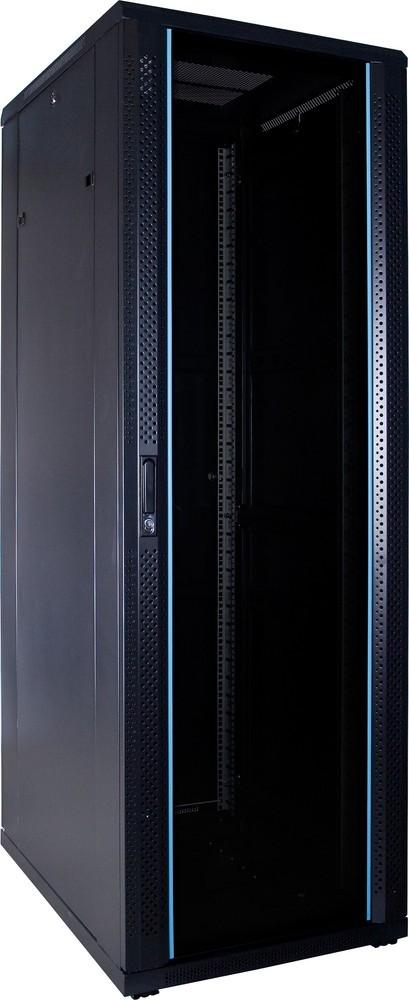 Afbeelding van 37U Patchkast ongemonteerd met glazen deur 600x800x1800mm (BxDxH)