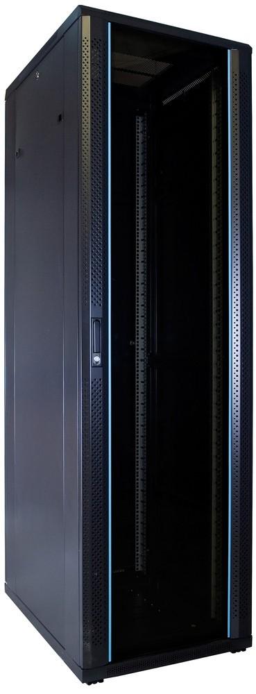 Afbeelding van 42U Patchkast ongemonteerd met glazen deur 600x800x2000mm (BxDxH)