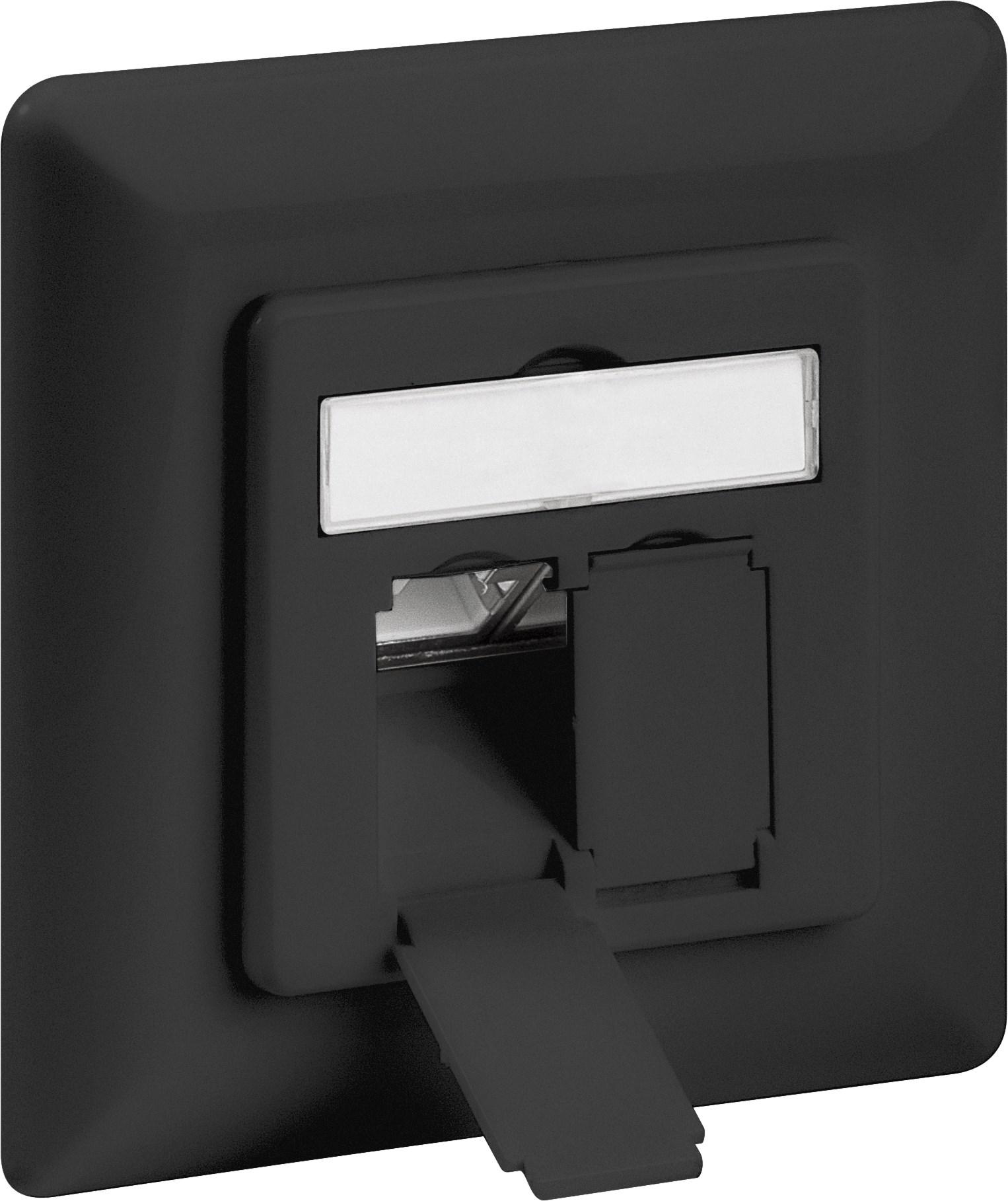 Afbeelding van Cat6a STP inbouwdoos, zwart
