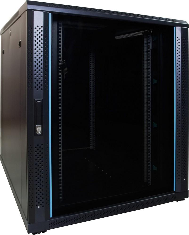 Afbeelding van 18U Patchkast met glazen deur 800x1000x1000mm (BxDxH)
