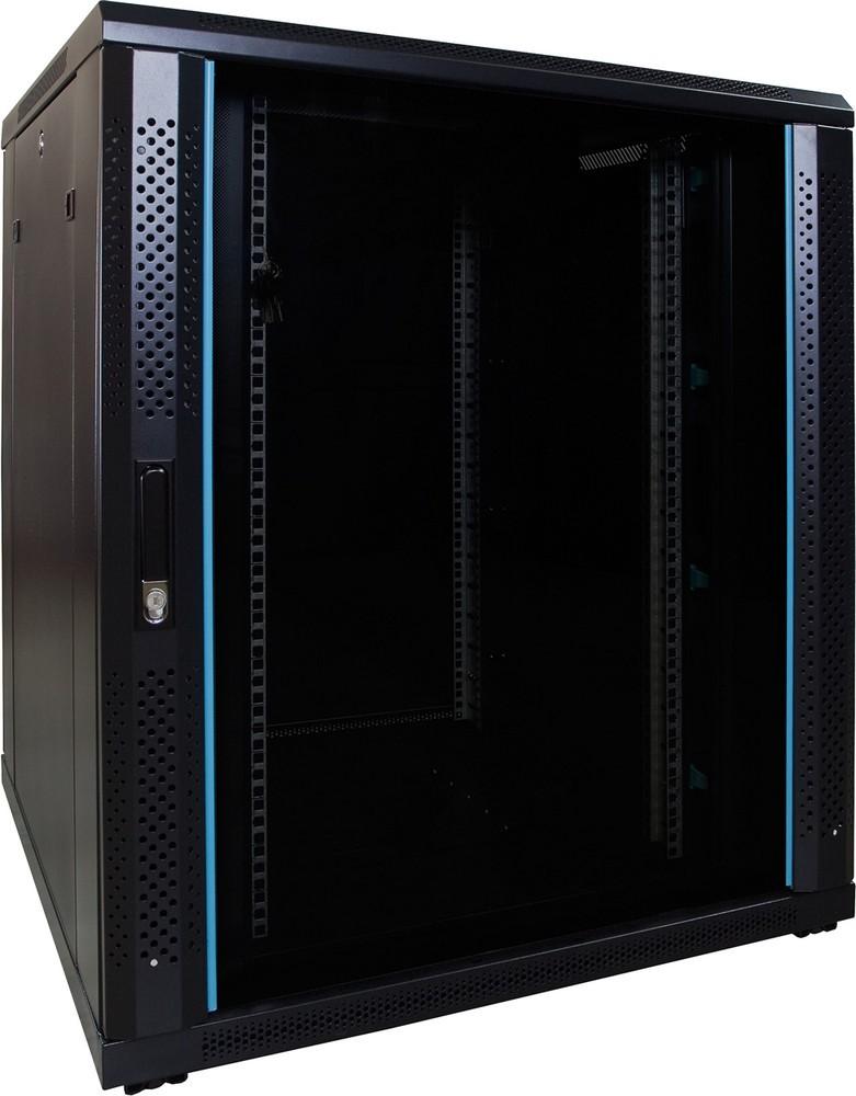 Afbeelding van 18U Patchkast met glazen deur 800x800x1000mm (BxDxH)
