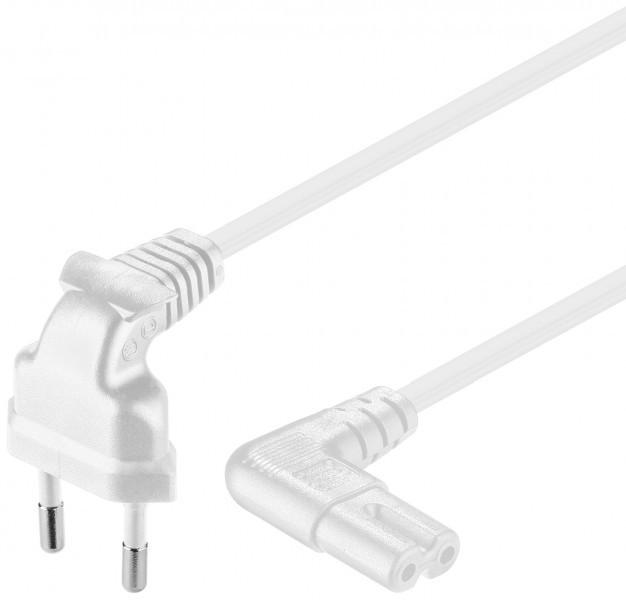 Afbeelding van Stroomkabel haaks euro plug naar C7 2m wit