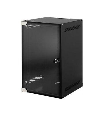 Schade (DS10-3315): 15U 10 inch ongemonteerde serverkast met glazen deur 280x320x730mm