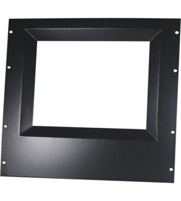 17 inch zwart afdek paneel om monitor op 19 patchkast te  monteren. Afmetingen (BxDxH): 19 x 10mm x10U