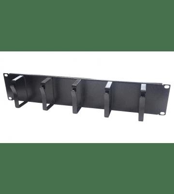 Metalen kabelhouder voor 19 inch patchkasten, 2U (19-CM02)