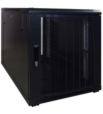 12U mini Patchkast met geperforeerde deur 600x1000x720mm (BxDxH)