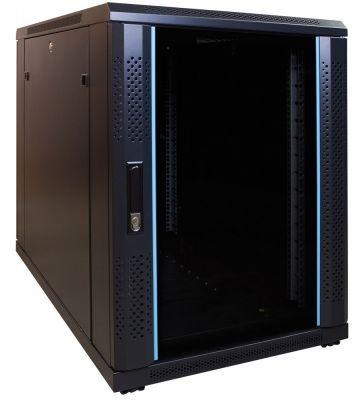 15U mini Patchkast met glazen deur 600x1000x770mm (BxDxH)