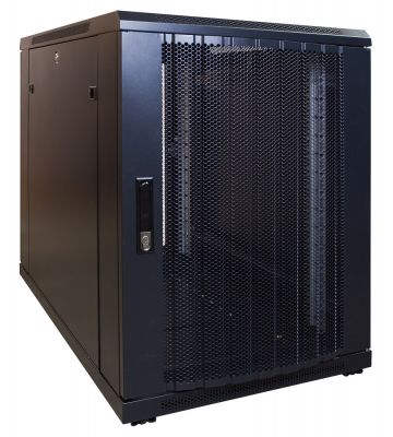 15U mini Patchkast met geperforeerde deur 600x1000x769mm (BxDxH)