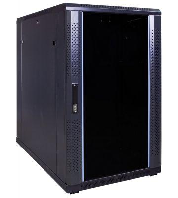 18U Patchkast met glazen deur 600x1000x1000mm (BxDxH)