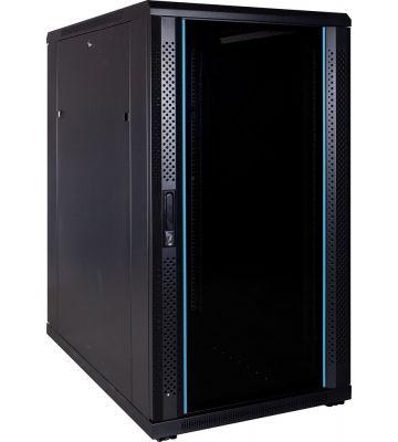 22U Patchkast met glazen deur 600x1000x1200mm (BxDxH)