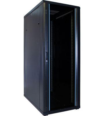 32U Patchkast met glazen deur 600x1000x1600mm (BxDxH)