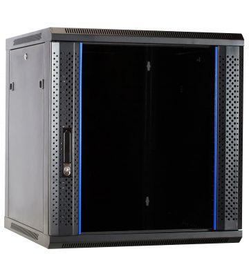 12U Wandkast ongemonteerd met glazen deur 600x600x635mm