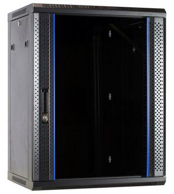 15U Wandkast met glazen deur 600x600x770mm