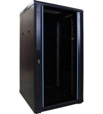 22U Patchkast met glazen deur 600x600x1200mm (BxDxH)