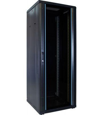 32U Patchkast met glazen deur 600x600x1600mm (BxDxH)