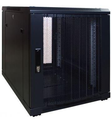 12U mini Patchkast met geperforeerde deur 600x800x720mm (BxDxH)
