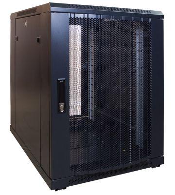15U mini Patchkast met geperforeerde deur 600x600x770mm (BxDxH)