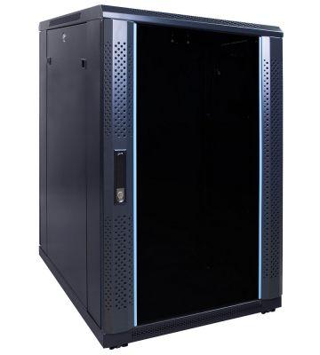 18U Patchkast met glazen deur 600x800x1000mm (BxDxH)