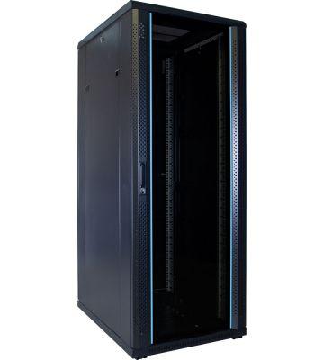 32U Patchkast met glazen deur 600x800x1600mm (BxDxH)