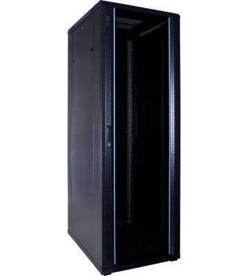 37U Patchkast met glazen deur 600x800x1800mm (BxDxH)