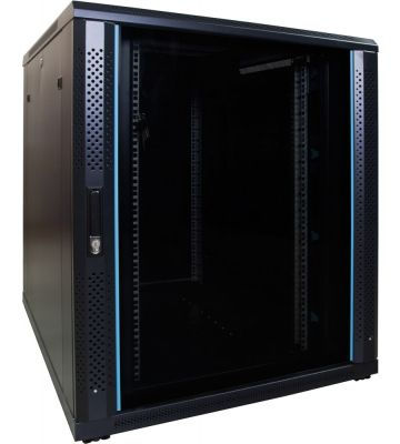 18U Patchkast met glazen deur 800x1000x1000mm (BxDxH)