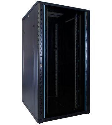 32U Patchkast met glazen deur 800x1000x1600mm (BxDxH)