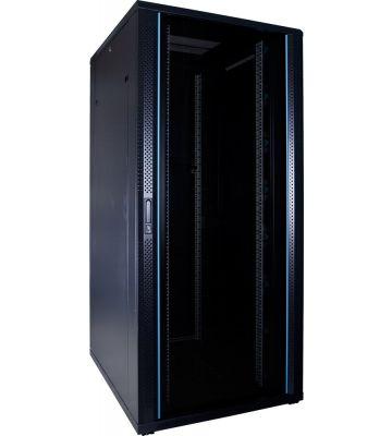 37U Patchkast met glazen deur 800x1000x1800mm (BxDxH)