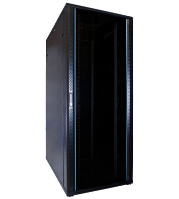 42U patchkast met glazen deur 800x1200x2000mm (BxDxH)