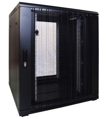 18U Patchkast met geperforeerde deur 800x800x1000mm (BxDxH)