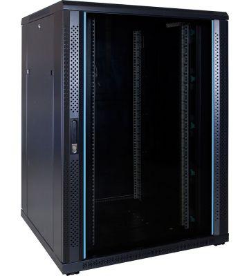 22U Patchkast met glazen deur 800x800x1200mm (BxDxH)
