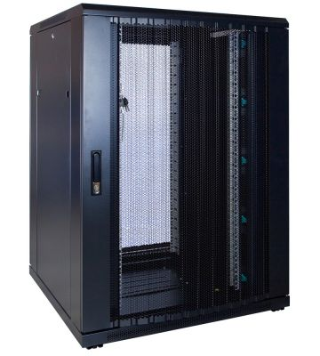 22U Patchkast met geperforeerde deur 800x800x1200mm (BxDxH)
