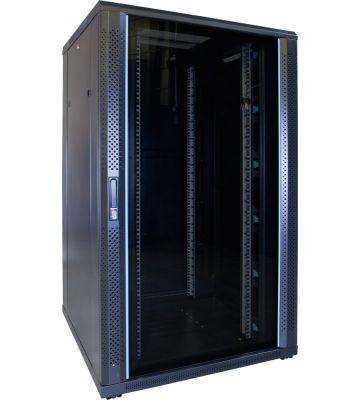 27U Patchkast met glazen deur 800x800x1400mm (BxDxH)