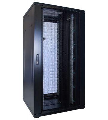 32U Patchkast met geperforeerde deur 800x800x1600mm (BxDxH)
