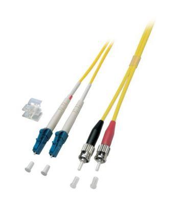 OS2 duplex glasvezel kabel LC-ST 1m