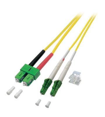 OS2 duplex glasvezel kabel LC/APC-SC/APC 0,50m