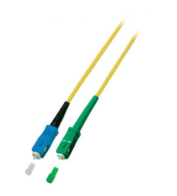 OS2 simplex glasvezel kabel SC/APC-SC 15m