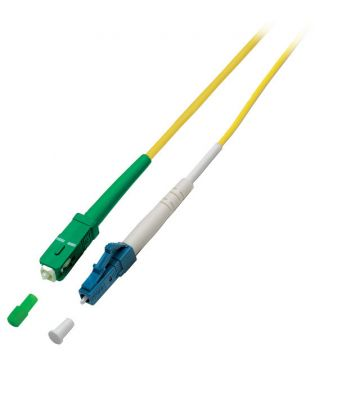 OS2 simplex glasvezel kabel SC/APC-LC 15m