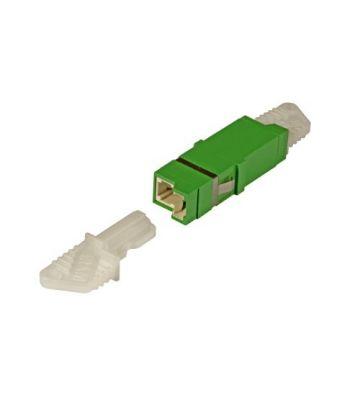 Singlemode keystone koppeling E2000-E2000 simplex groen
