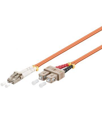 Glasvezel kabel LC-SC OM2 (laser optimized) 1 m