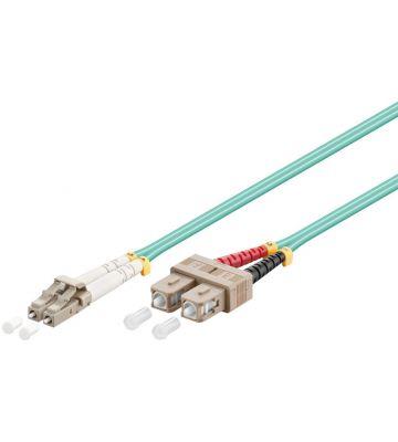 Glasvezel kabel LC-SC OM3 (laser optimized) 0,5 m