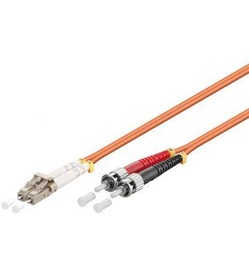 Glasvezel kabel LC-ST OM2 (laser optimized) 0,5 m