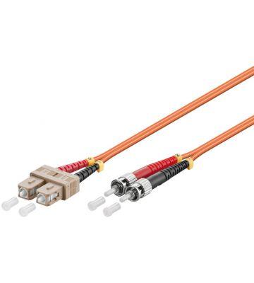 Glasvezel kabel SC-ST OM2 (laser optimized) 1 m