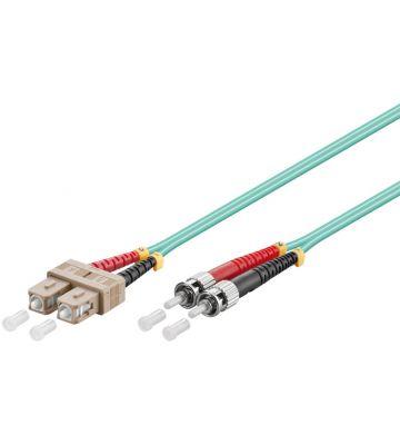 Glasvezel kabel SC-ST OM3 (laser optimized) 1 m